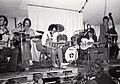 Chris Newman group and Diz Disley guitar jam, Cambridge 1977.jpg