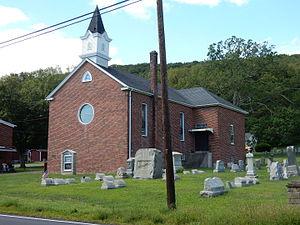 Butler Township, Schuylkill County, Pennsylvania - Image: Christ Congregational Church in Fountain Springs, PA 01