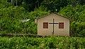 Church with antena in Ashaninka village - Ministério da Cultura - Acre, AC.jpg
