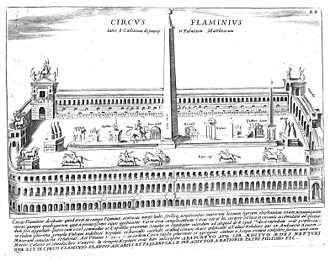 Circus Flaminius - Engraving of the Circus Flaminius by Giacomo Lauro in 1641.