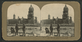 City Hall from McAllister St., looking northeast. Souvenir hunters in foreground, by Griffith & Griffith.png