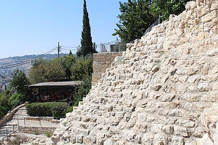 Stepped Stone Structure in Ophel/City of David, the oldest part of Jerusalem City of David - The Stepped Stone Stracture IMG 5828.JPG
