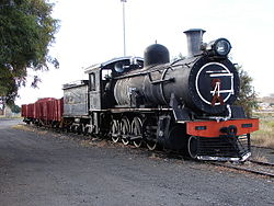 SAR Class 8FW no. 1236 plinthed at De Aar