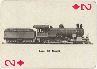South African type XE1 tender - Type XE1 tender on CGR 8th Class 2-8-0 of 1904