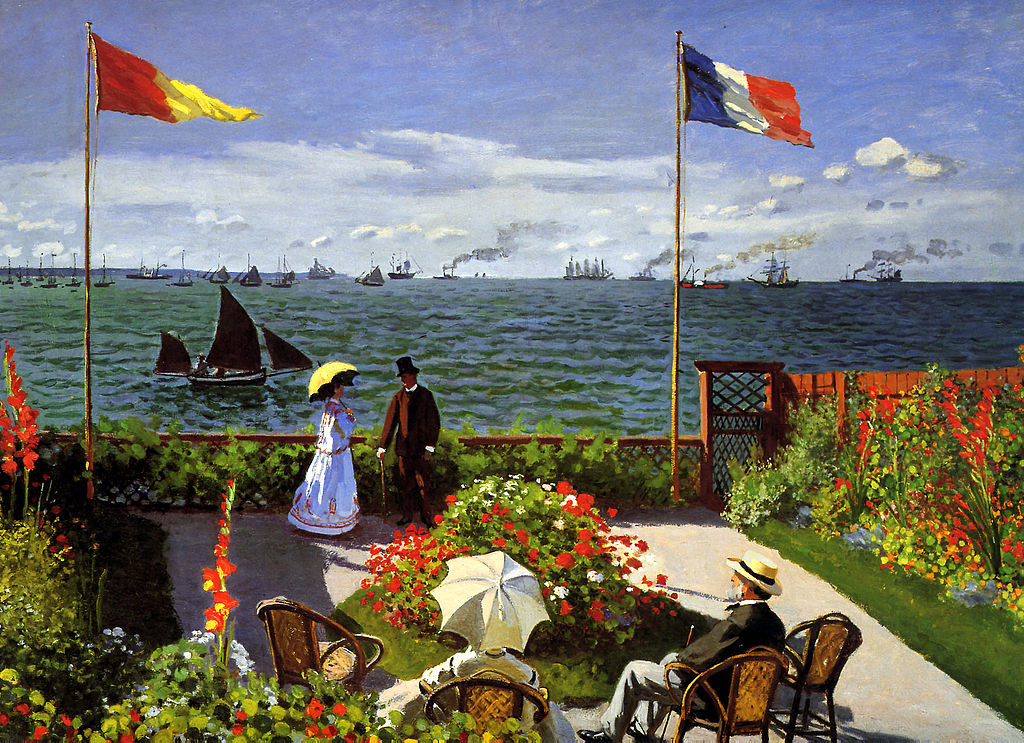 an overview of clause oscar monets painting terrace at sainte adresse File:claude monet - jardin à sainte-adressejpg from wikipedia  information from its description page there is shown below commons is a  alternative names, oscar-claude monet description  claude monet: garden at sainte- adresse title  usuário(a):bmneuromat/testes/metropolitan museum of art usage on.