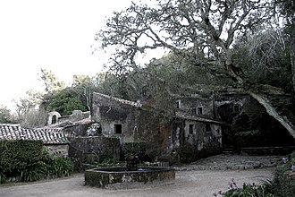 Convent of the Capuchos (Sintra) - The courtyard as it looks, showing the natural weathering and symbiosis with the environment