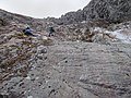 Climbing the moraine.JPG