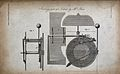 Clocks; the mechanism of a chiming clock. Engraving by Mutlo Wellcome V0023847.jpg