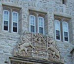 Coats of arms of Canada on Currie Hall Mackenzie Building Royal Military College of Canada