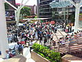 Coffee break during Wikimania 2013 in the Chapters Village, Logo Square, Hong Kong Polytechnic University - 20130809.jpg