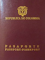 Pasaporte biométrico Colombiano
