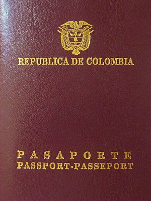 Andean passport - Image: Colombian Passport