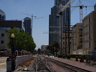 Columbia, San Diego - The Columbia district undergoing redevelopment.