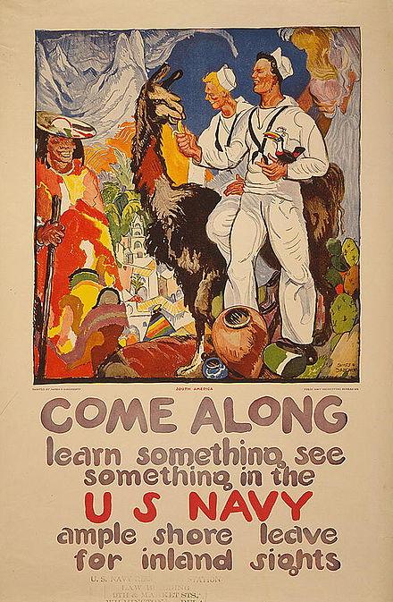 一緒に来て-何かを学び、米海軍で何かを見なさい(1919年のポスター)