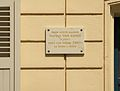 Commemoration plate on the house where Van Gogh and his brother lived in Paris (Rue Lepic) - Paris.jpg