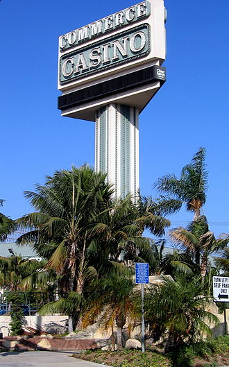 Commerce Casino - Commerce Casino sign