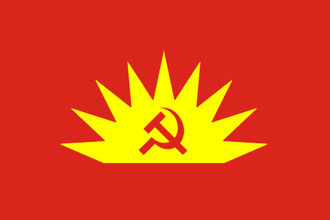 Red flag (politics) - Image: Communist Party of Ireland