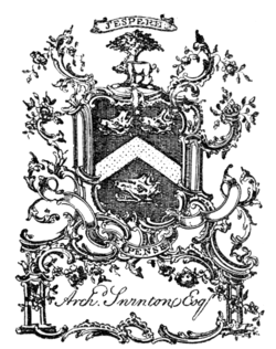 Fig. 740.—Bookplate of Archibald Swinton of Kimmerghame.