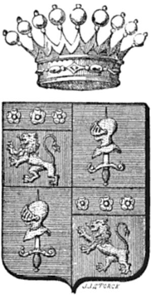 Edgard de Trentinian - Arms of the Comtes de Trentinian