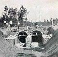 Construction du passage souterrain des tribunes du GP de l'ACF, en 1906.jpg