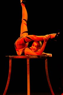 Contortion Performance art using skills of extreme physical flexibility