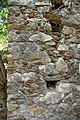 Contruction materials in a wall at the Byzantine fortress of Mystra.jpg
