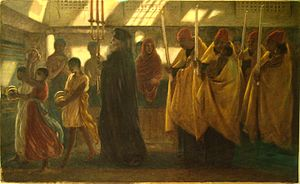Coptology - 'Coptic Baptismal Procession' by English Pre-Raphaelite painter Simeon Solomon, 1865.
