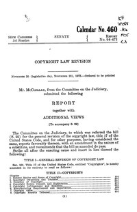 Copyright Law Revision (Senate Report No. 94-473).djvu