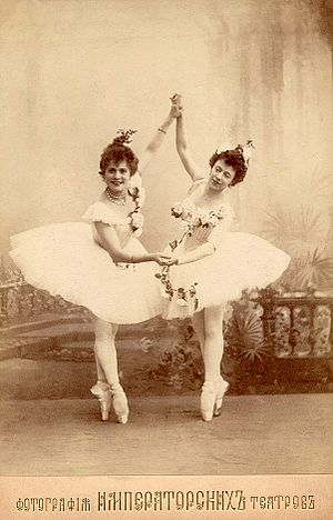 Ballet dancer - Image: Corsaire Le Jardin Anime Pierina Legnani Olga Preobrajenska 1899