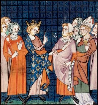 Arnulf (archbishop of Reims) - Arnulf at the Council of Reims, 991