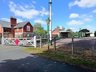 County School railway station Railway station in Norfolk, England