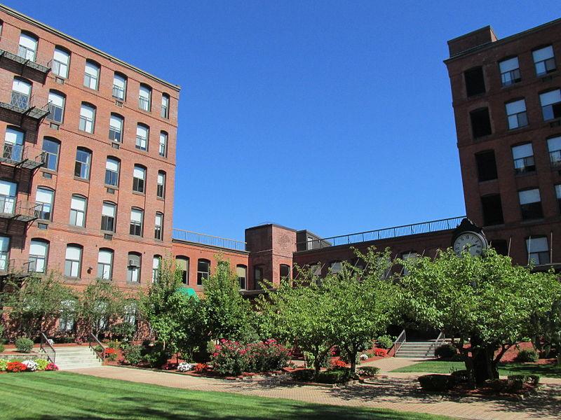 File:Courtyard, Milton Bradley Company Building, Springfield MA.jpg