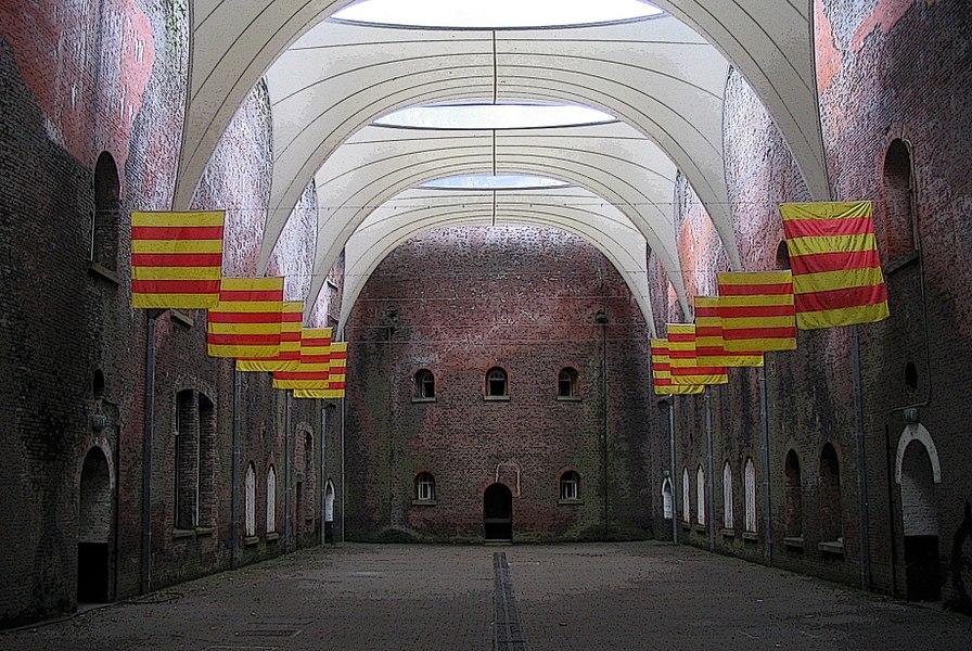 Courtyard of Fort 4 in Antwerp