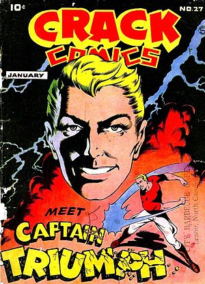 Captain Triumph - Image: Crack Comics 27, Cover