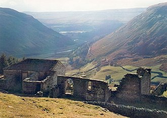 Keld, North Yorkshire - Crackpot Hall and view of Swaledale