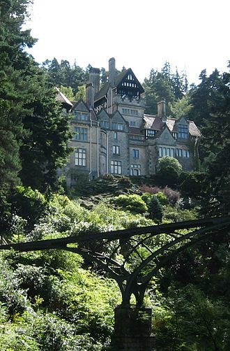 "Tudor Revival architecture - Cragside, designed by Norman Shaw in what he called a ""Free Tudor"" style"