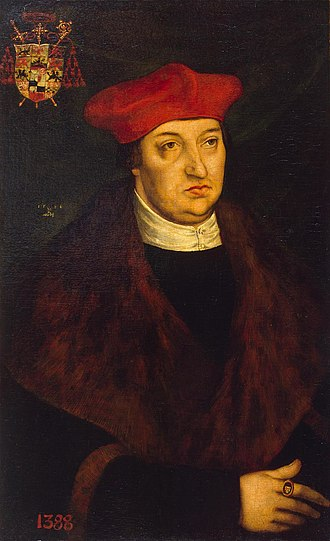 Albert of Brandenburg - Albert of Mainz, painted by Lucas Cranach the Elder in 1526