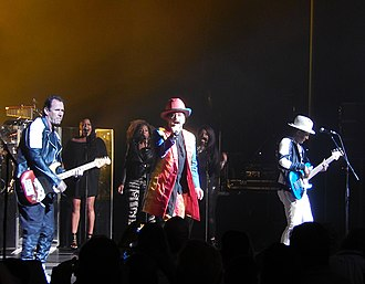 Culture Club - Culture Club; Milwaukee, Wisconsin; 2016.  Front L-R: Roy Hay, Boy George, and Mikey Craig (not pictured: Jon Moss).