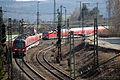 DB BR440 mit BR111 Dostos - Einfahrt Bahnhof Treuchtlingen (Bayern) - (Eisenbahn-Die Bahn) (13516445735).jpg