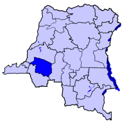 Location of Kwilu District in the Democratic Republic of the Congo.
