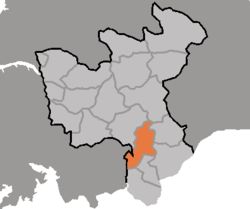 Location of Kŭmch'ŏn County