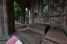 Walter Scotts Grab in der Dryburgh Abbey (Quelle: Wikimedia)