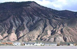 Dotsero, Colorado - Houses in Dotsero along the south side of Interstate 70, along the Eagle River