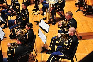 Concert band - A military band—The United States Army Band, 2012