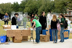 Social entrepreneurship - Student organizers from the Green Club at Newcomb College Institute have formed a social entrepreneurship organization in 2010 that aimed to encourage people to reduce waste and live in a more environmentally conscious way.