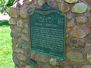 Fountain Green massacre - Uinta Springs Camp monument of the Daughters of the Utah Pioneers