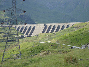 Cruachan Power Station - The dam containing the upper reservoir
