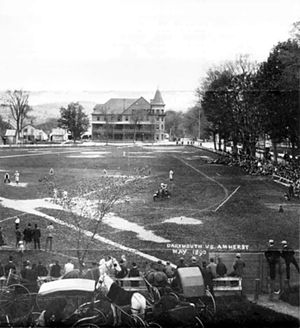 The Green (Dartmouth College) - An 1890 baseball game being played against Amherst College on the Green.