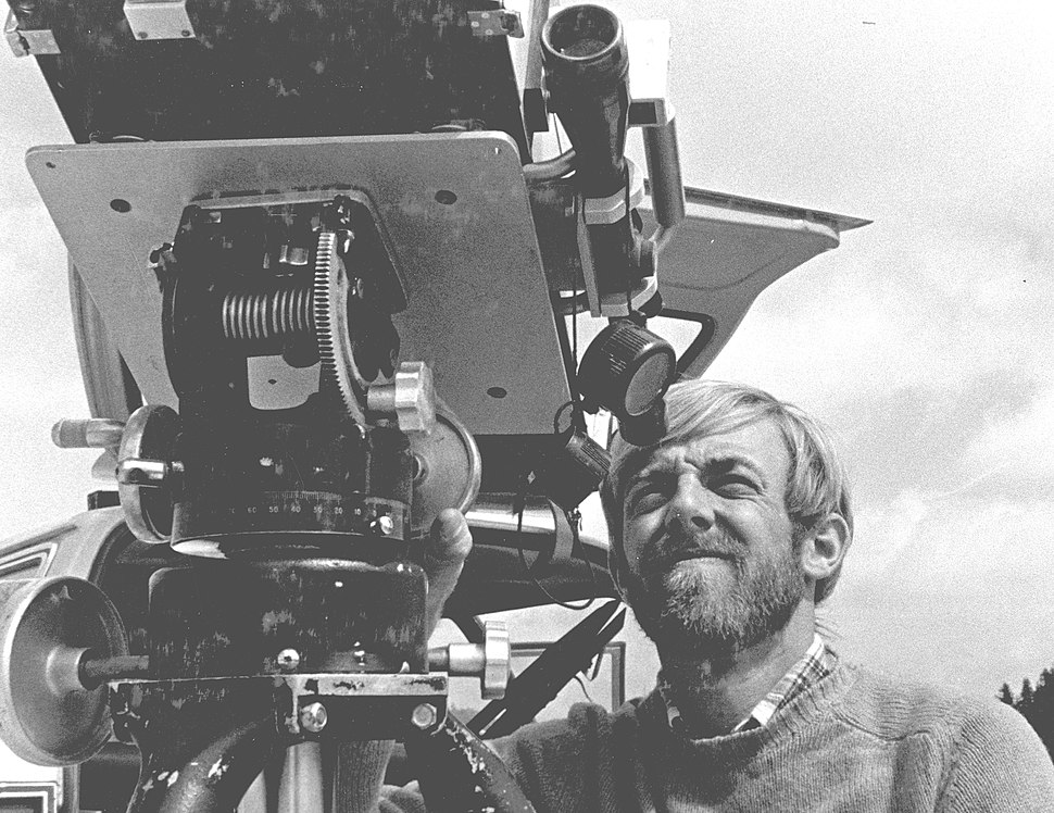 Dave Johnston with gas-detection instrument at Mount St. Helens, 4 April 1980 (USGS) 1
