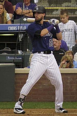 David Dahl (baseball) - Dahl batting for the Colorado Rockies in 2016